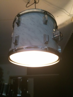 Drumlamp marble white