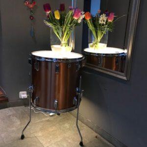 Bijzet drum tafel met ingebouwde led verlichting