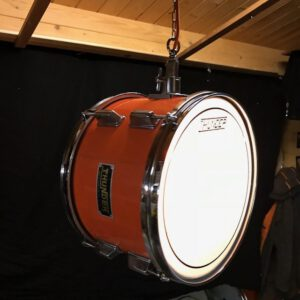 Stoere oranje drum hanglamp Thunder