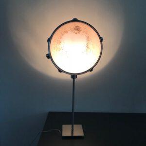 Staande zwarte drumlamp