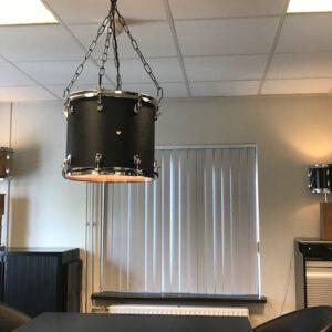 Originele zwarte drum hanglamp