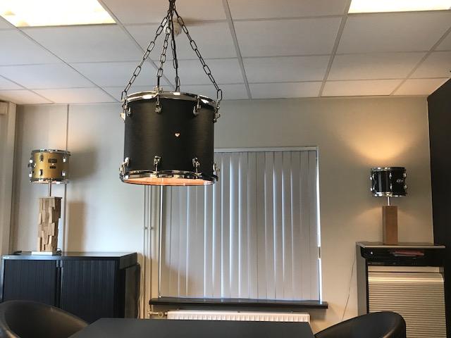 Originele zwarte drum hanglamp » vintagedrumlightsvintagedrumlights