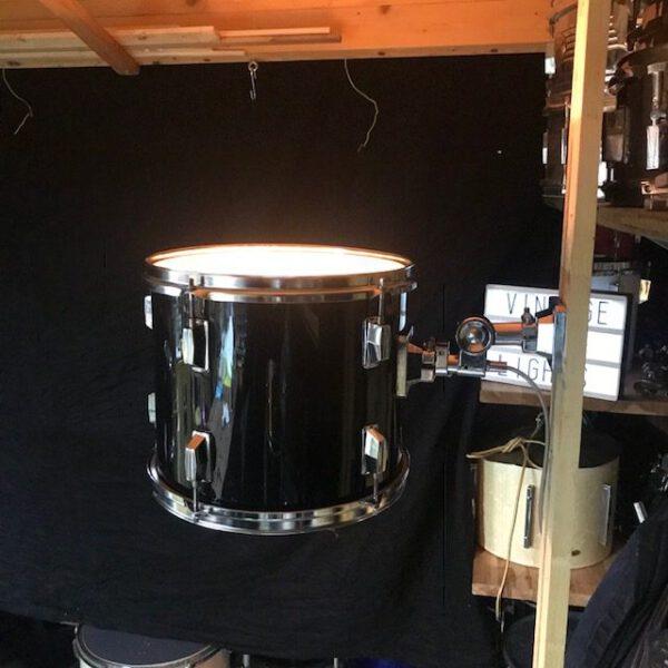 Originele zwarte drum wandlamp