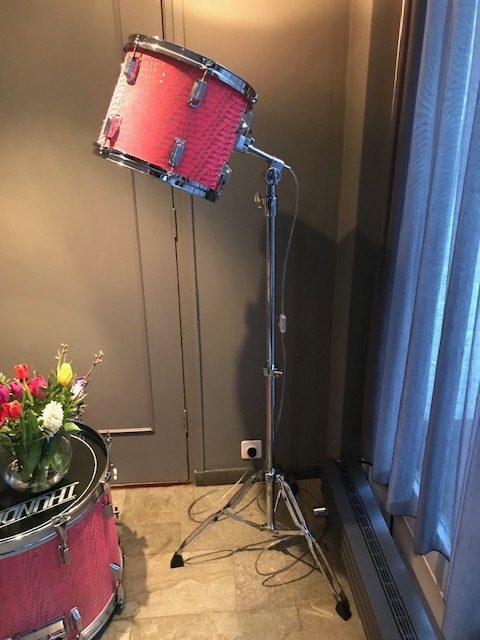 Staande vintage drum lamp