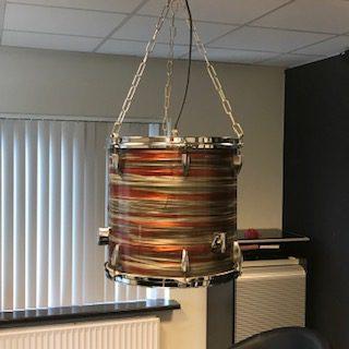 Vintage drum hanglamp