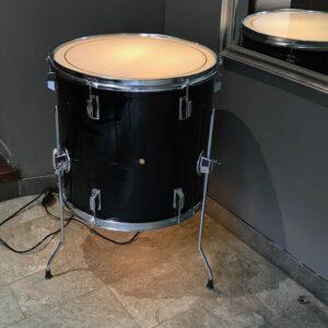 Bijzet drum tafel met ingebouwde verlichting